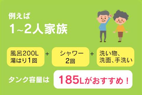 1〜2人家族
